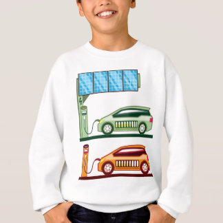 Solar Charging Station Electric Vehicle Sweatshirt