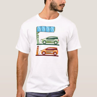 Solar Charging Station Electric Vehicle T-Shirt