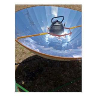 solar cooker postcard