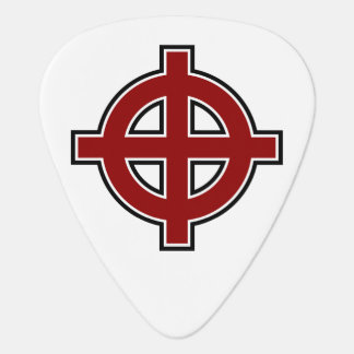 Solar Cross in red, white and black Guitar Pick