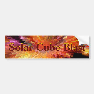 Solar Cube Blast Bumper Sticker