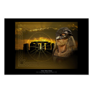 Solar Deity (Lleu) Poster