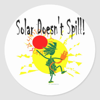 Solar Doesnt Spill T Shirt & More Round Stickers