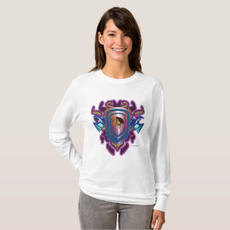 Solar Dragon Shield Ladies Long Sleeve Shirt