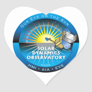 Solar Dynamics Observatory Heart Stickers