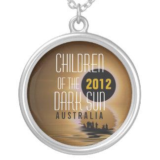 Solar Eclipse 2012 : Children of the Dark Sun Neck Round Pendant Necklace