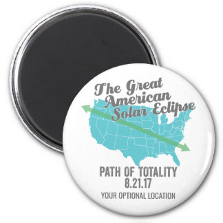 Solar Eclipse 2017 Path of Totality United States Magnet