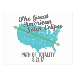 Solar Eclipse 2017 Path of Totality United States Postcard