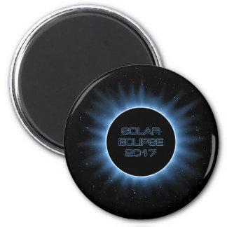 Solar Eclipse 2017 Round Magnet