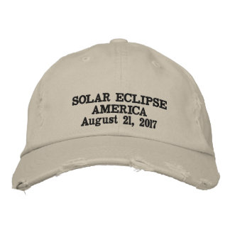 Solar eclipse America August 21, 2017 Embroidered Baseball Hat