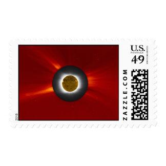 Solar Eclipse and SOHO Postage