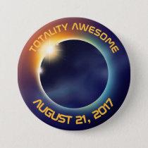 Solar Eclipse   Astronomy Button
