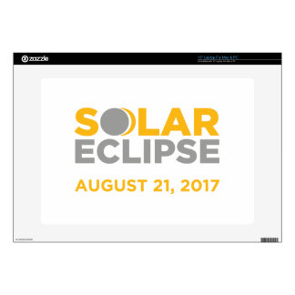 "Solar Eclipse August 21 2017 15"" Laptop Decal"