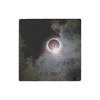 Solar Eclipse August 21st 2017 Stone Magnet