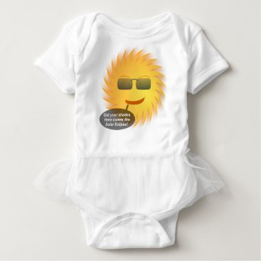 Beach Themed Solar Eclipse Baby Bodysuit