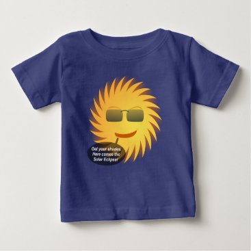 Beach Themed Solar Eclipse Baby T-Shirt