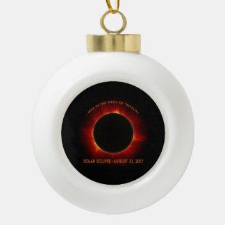 Solar Eclipse Ceramic Ball Christmas Ornament