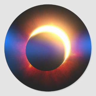 Solar Eclipse Classic Round Sticker