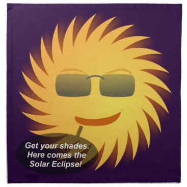 Beach Themed Solar Eclipse Cloth Napkin