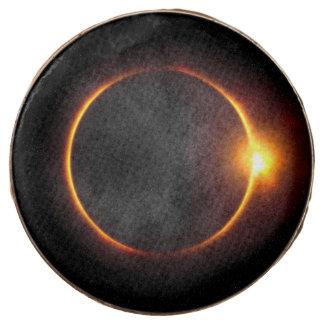 Solar Eclipse Dark Sun & Moon Chocolate Covered Oreo