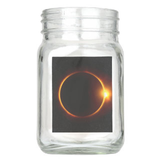 Solar Eclipse Dark Sun & Moon Mason Jar