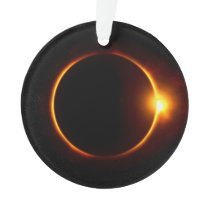 Solar Eclipse Dark Sun & Moon Ornament