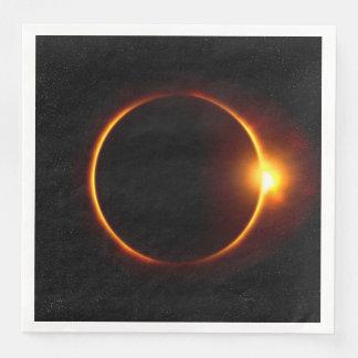 Solar Eclipse Dark Sun & Moon Paper Dinner Napkin