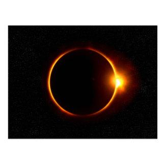 Solar Eclipse Dark Sun & Moon Postcard