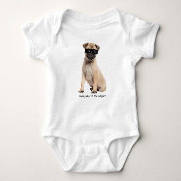 USA Themed Solar Eclipse Dog - Baby Onesy Baby Bodysuit