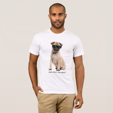 USA Themed Solar Eclipse Dog T-Shirt