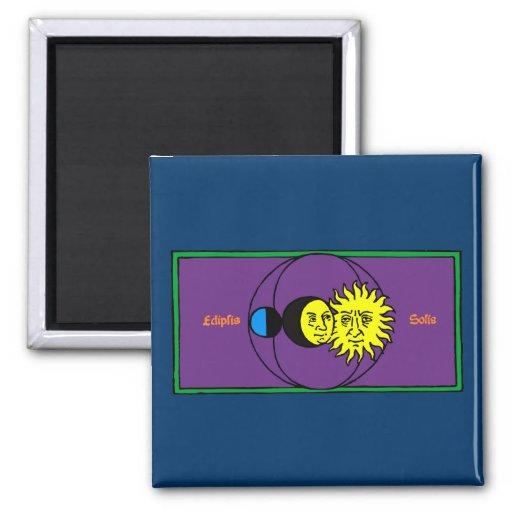 Solar eclipse Eclipse 2 Inch Square Magnet