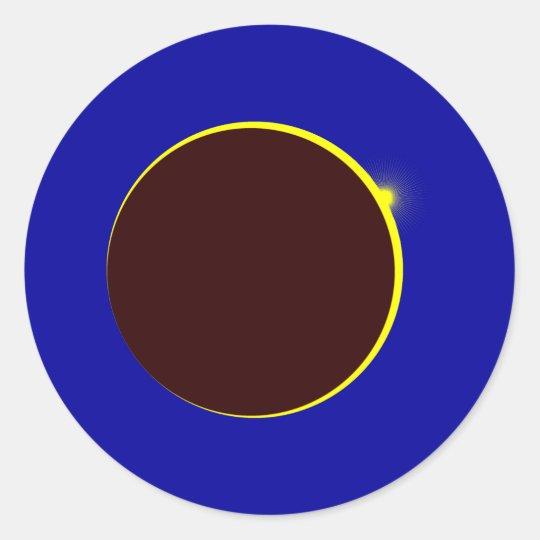 Solar eclipse Eclipse Classic Round Sticker