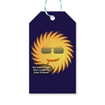 Beach Themed Solar Eclipse Gift Tags