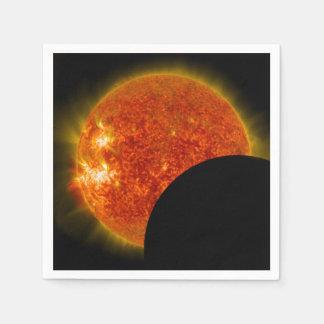 Solar Eclipse in Progress Napkin