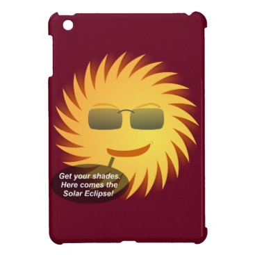 Beach Themed Solar Eclipse iPad Mini Cover