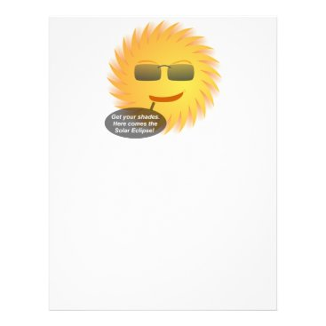 Beach Themed Solar Eclipse Letterhead