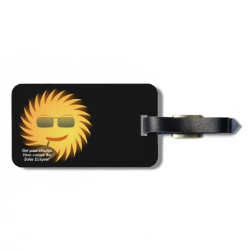 Beach Themed Solar Eclipse Luggage Tag