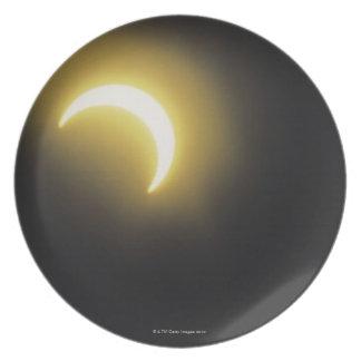 Solar eclipse melamine plate