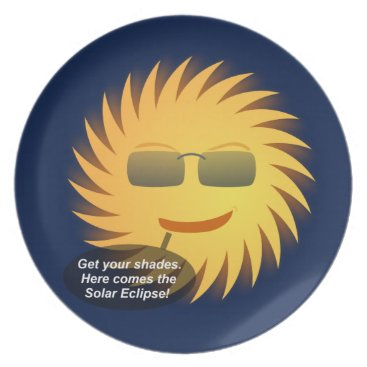 Beach Themed Solar Eclipse Melamine Plate