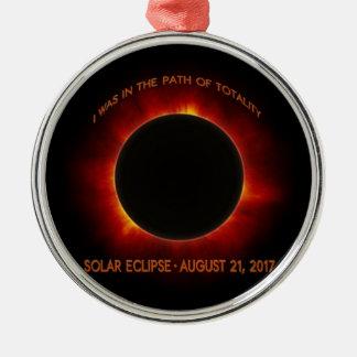 Solar Eclipse Metal Ornament