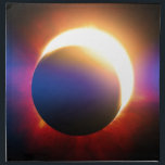 """Solar Eclipse Napkin<br><div class=""""desc"""">A solar eclipse (the moon covering the sun),  with the typical &quot;lens-flare&quot; effect in blue.</div>"""