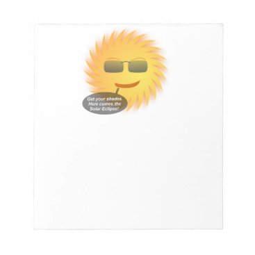 Beach Themed Solar Eclipse Notepad
