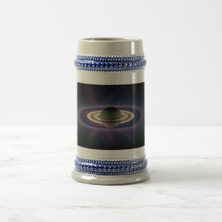 Solar Eclipse Of Saturn from Cassini Spacecraft Beer Stein