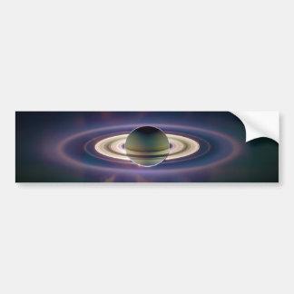 Solar Eclipse Of Saturn from Cassini Spacecraft Bumper Sticker