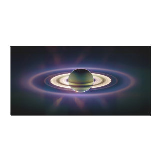 Solar Eclipse Of Saturn from Cassini Spacecraft Canvas Print
