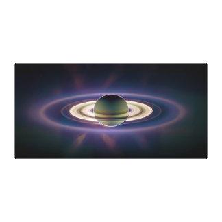 Solar Eclipse Of Saturn from Cassini Spacecraft Canvas Print