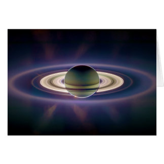 Solar Eclipse Of Saturn from Cassini Spacecraft Card