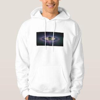 Solar Eclipse Of Saturn from Cassini Spacecraft Hooded Sweatshirt