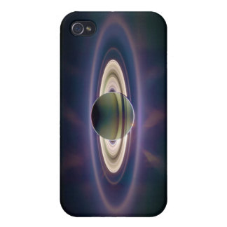 Solar Eclipse Of Saturn from Cassini Spacecraft iPhone 4 Covers