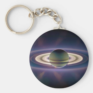 Solar Eclipse Of Saturn from Cassini Spacecraft Keychain
